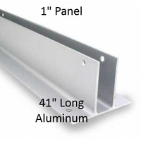 "Two Ear Continuous Wall Bracket for Bathroom Stall Repair. 1"" Panel. Aluminum, 41"" Long"