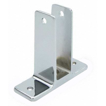 """Two ear wall bracket for 1"""" bathroom stall panel. Extra high"""