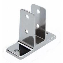 "Two ear urinal screen bracket for 1"" bathroom stall panel"