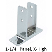 "Urinal screen wall bracket for 1-1/4"" bathroom stall panel. Extra High"