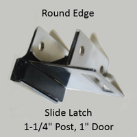 Inawing strike & keeper for ROUND edged bathroom stall