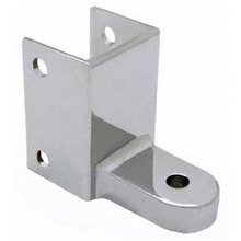 "Bathroom stall bottom hinge bracket for 1-1/4"" post and 1"" door"