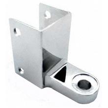 "Bathroom stall bottom hinge bracket for 1-1/4"" post and 1"" door"