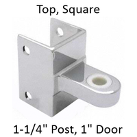 "Bathroom stall top hinge bracket for 1-1/4"" pilaster and 1"" door"