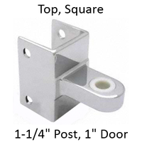 "Bathroom stall top hinge bracket for 1-1/4"" pilaster and 1"" door"