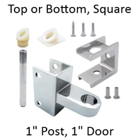 "Bathroom stall hinge replacement pack for 1"" pilaster and 1"" door"
