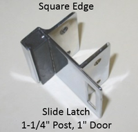 Inswing strike & keeper for SQUARE edged bathroom stall doors & pilasters