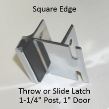 Inswing strike & keeper for SQUARE edged bathroom stall pilaster & door