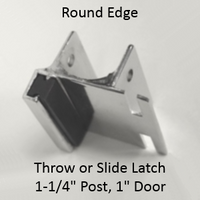 Inswing strike & keeper for ROUND edged bathroom stalls