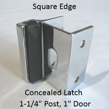 Inswing or outswing strike & keeper for SQUARE edged bathroom stall door & pilaster