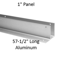 "One Ear Continuous Wall Bracket for Bathroom Stall Repair. 1"" Panel. Aluminum, 57-1/2"" Long"
