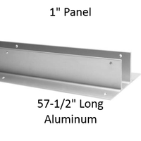 "Continuous Two Eared Wall Bracket for 1"" Panel. Aluminum, 57-1/2"" Long"