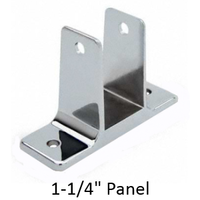 "Two ear wall bracket for 1-1/4"" bathroom stall panel"