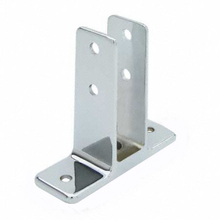 "Urinal screen bracket for 1"" bathroom stall panel. Extra High"