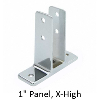 "Urinal screen bracket for 1"" bathroom stall panel. Extra High"