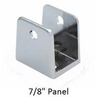 "Chrome plated U-bracket for 7/8"" bathroom stall panel"