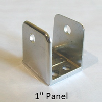 "Chrome plated U-bracket for 1"" bathroom stall panel"