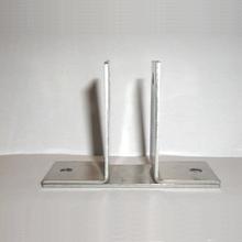 "Two ear wall bracket for 7/8"" bathroom stall panel"