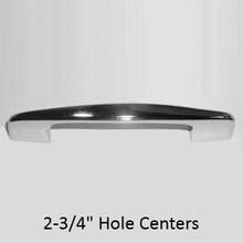 """Door pull for bathroom stalls. 2-3/4"""" hole spacing. Chrome plated"""
