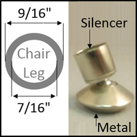 "Swivel chair glide for round legs with O.D. 9/16"" and I.D. 7/16"""