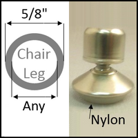 "Swivel chair glide for round leg with 5/8"" O.D. and ANY I.D."