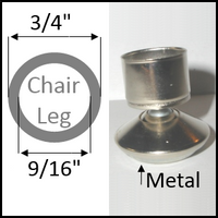 "Swivel chair glide for round legs with O.D. 3/4"" and I.D. 9/16"""