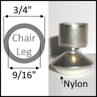 "Swivel chair glide for rough leg with O.D. 3/4"" and I.D. 9/16"""