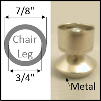 """Swivel chair glide for round legs with O.D. 7/8"""" and I.D. 3/4"""""""