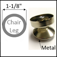 """Swivel chair glide for chairs with round legs of 1-1/8"""" O.D."""