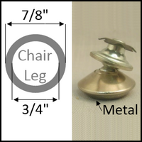"""Swivel chair glide for round legs with 7/8"""" O.D. and 3/4"""" I.D."""