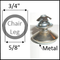 """Swivel chair glide for round legs with 3/4"""" O.D. and 5/8"""" I.D."""