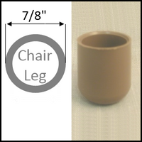 "Chair Glide. Plastic Cap For Folding Chairs, Leg O.D. 7/8"". #28T13"