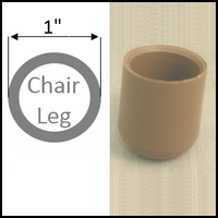 "Plastic cap chair glide for folding chairs. Leg with 1"" O.D."