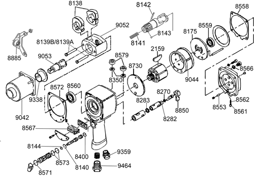 2940P-TK3 T/U Kit equivalent KF136176 tune up kit, Chicago Pneumatic, 912