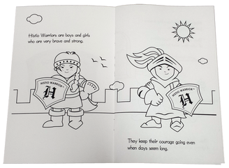 Histio Warriors coloring book sample pages