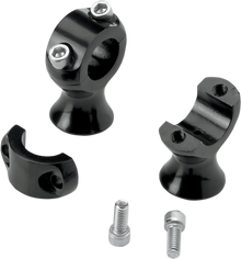 Biltwell Inc Motorcycle Slimline Handlebar Risers - Black