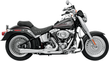 Bassani - Road Rage 2-into-1 Exhaust Systems Chrome, Short - Fits '86-'16 FXS, FXST,FLS,FLST