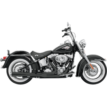 Bassani - Road Rage 2-into-1 Exhaust Systems Black, Long - Fits '86-'16 FXS, FXST,FLS,FLST
