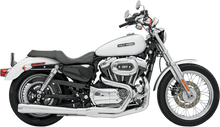 Bassani - Road Rage 2-into-1 Exhaust Systems Chrome, Long - Fits  '04-'13 XL W/ Mid or Forward Controls