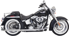 Bassani - True Duals w/ Fishtail Mufflers - fits '07-'16 Softail Models (no baffle)
