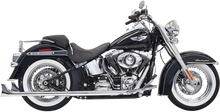"Bassani - True Duals w/ Fishtail Mufflers w/ 1 7/8"" Muffler - fits '07-'16 Softail Models (no baffle)"