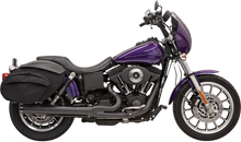 Bassani - Road Rage 2-into-1 Exhaust Systems Black, Long - Fits  '91-'05 FXD/FXDWG With Forward or Mid Controls