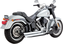 Vance and Hines - Big Shots Staggered and Long Systems - Chrome fits '12-'16 FXS, FLS, FLST Models