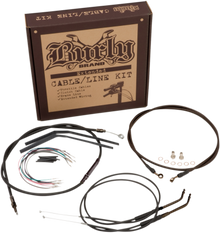 """Burly Brand - 16"""" Handlebar Cable/ Brake Line Extension Kit - fits '12-'16 FXDWG/FLD/FXDB, '12-'14 FXDC, '14-'16 FXDL W/ABS"""