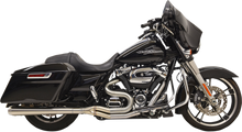 Bassani - Road Rage III Stainless 2-into-1 Megaphone Exhaust - fits Harley Touring Models