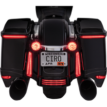 Ciro - Bag Blades - All Red Turn Signals - Fits Harley Touring Models (See Desc.)