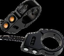 Joker Machine - Dual Rat Eye LED Turn Signals - Fork Mount - Black or Chrome