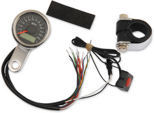 """Drag Specialties - 1-7/8"""" Mini Programmable Electronic Speedometer With Indicator Lights - Polished"""