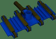 Pentair Superflex Vacuum Head 14 Inch - For 1-1/2 Inch Hose R201388 (RAI-40-2342)