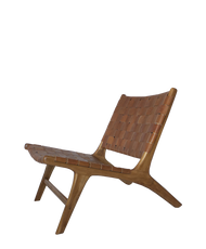 BORO CHAIR- Vintage Leather 1 & Natural Teak